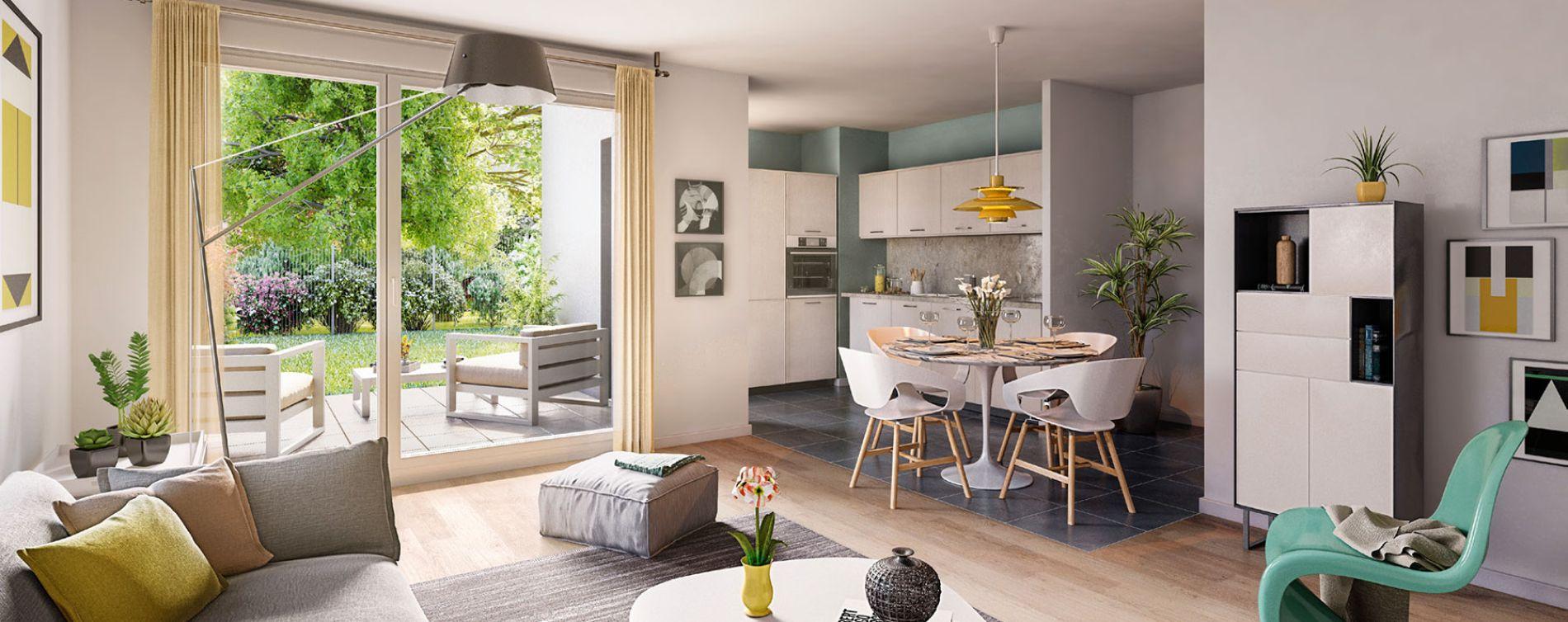 Schiltigheim : programme immobilier neuve « Follement Schilick Bât. H » en Loi Pinel (4)