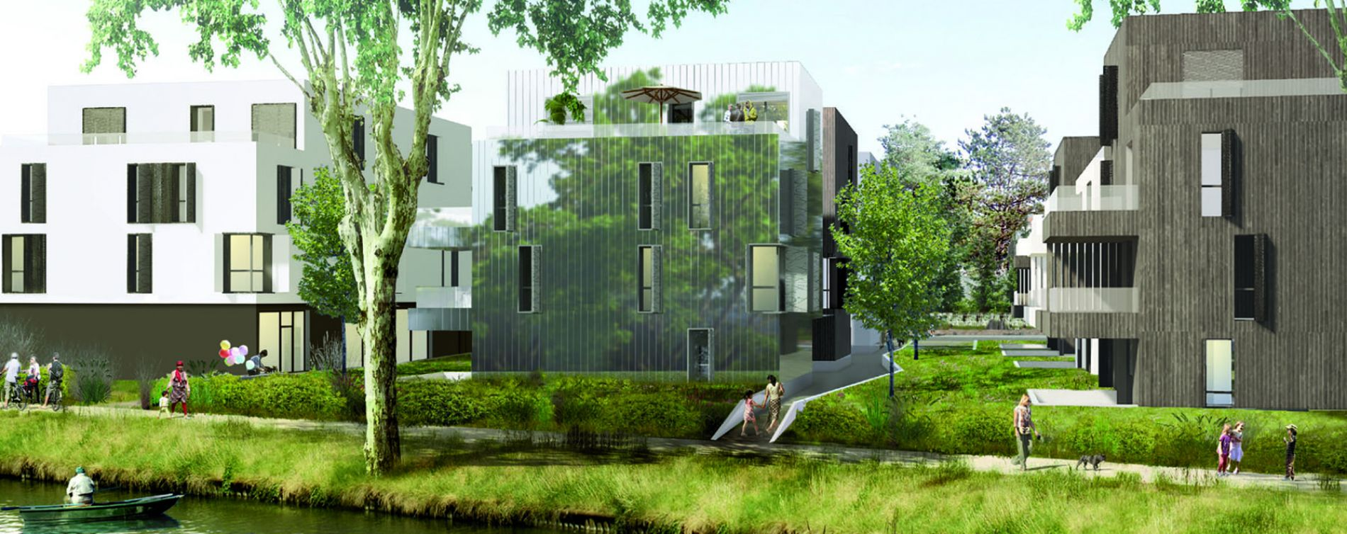 Strasbourg : programme immobilier neuve « Les jardins d'O » en Loi Pinel