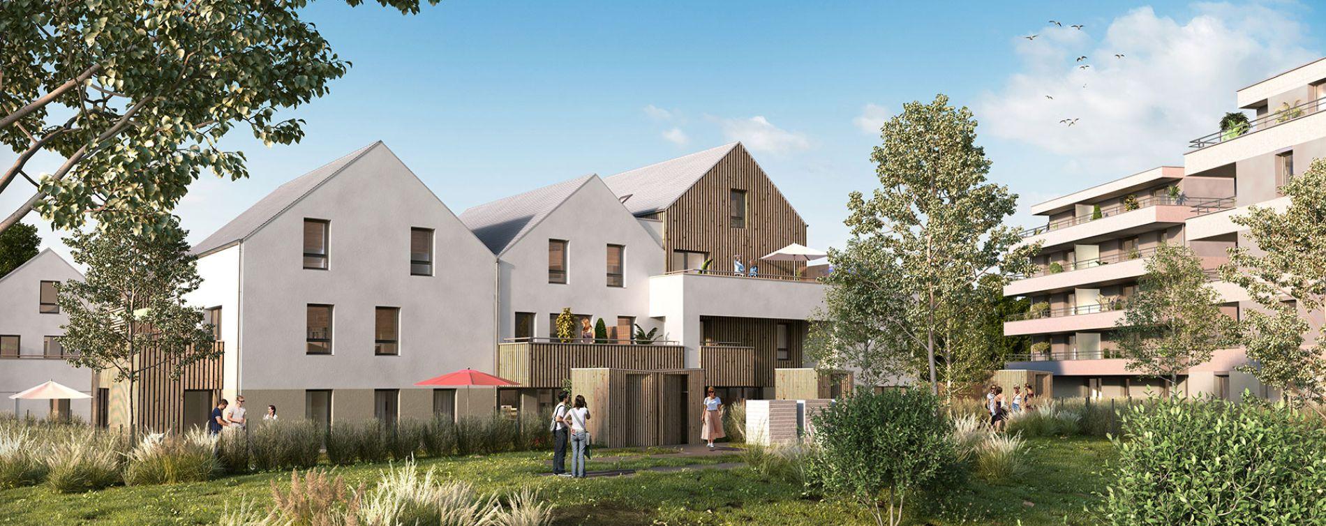 Strasbourg : programme immobilier neuve « Les Moulins Becker » en Loi Pinel
