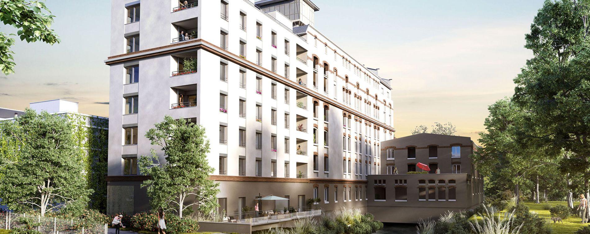 Strasbourg : programme immobilier neuve « Les Moulins Becker » en Loi Pinel (3)