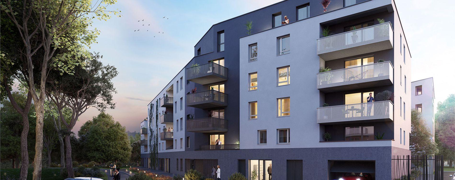 Strasbourg : programme immobilier neuve « L'Inattendu 2 » en Loi Pinel