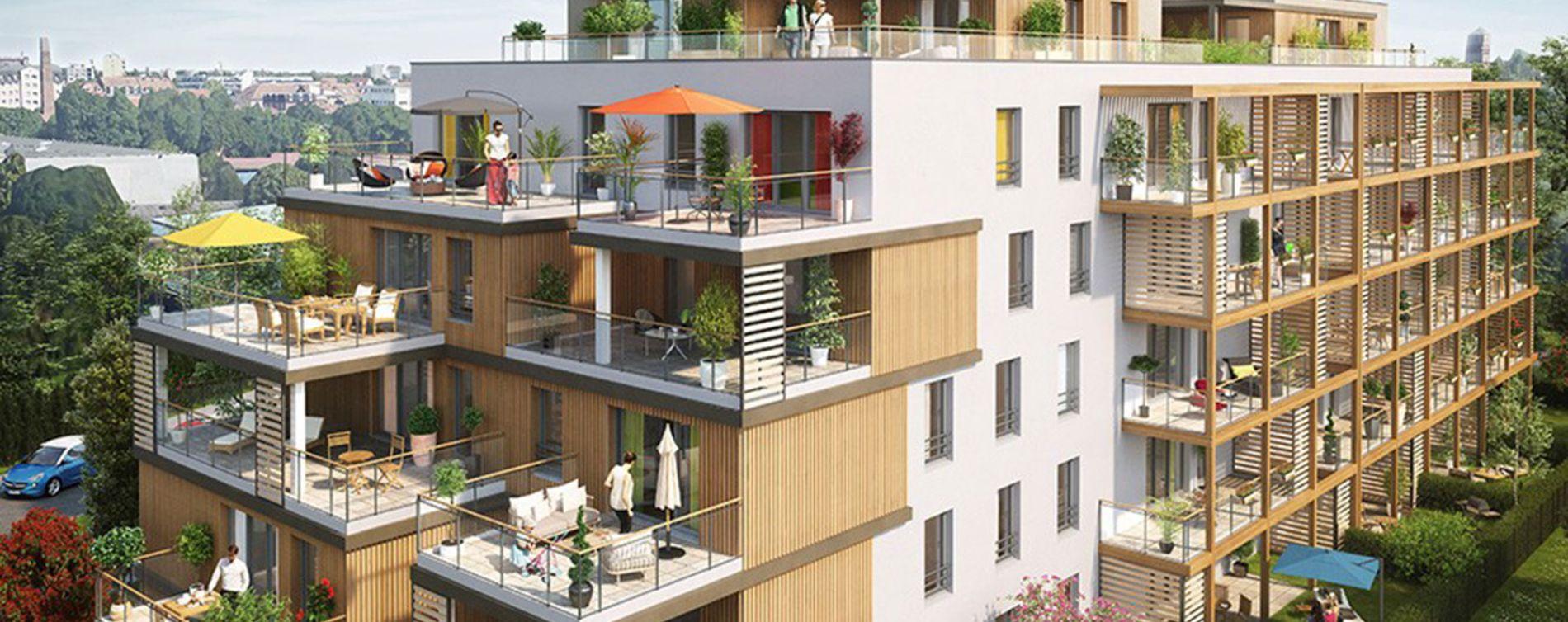 Strasbourg : programme immobilier neuve « Secret Garden - C3 »