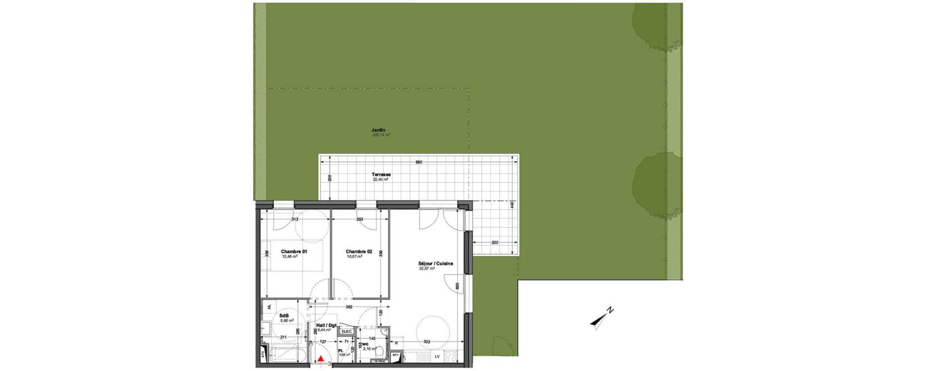 Appartement T3 de 60,15 m2 à Huningue Centre