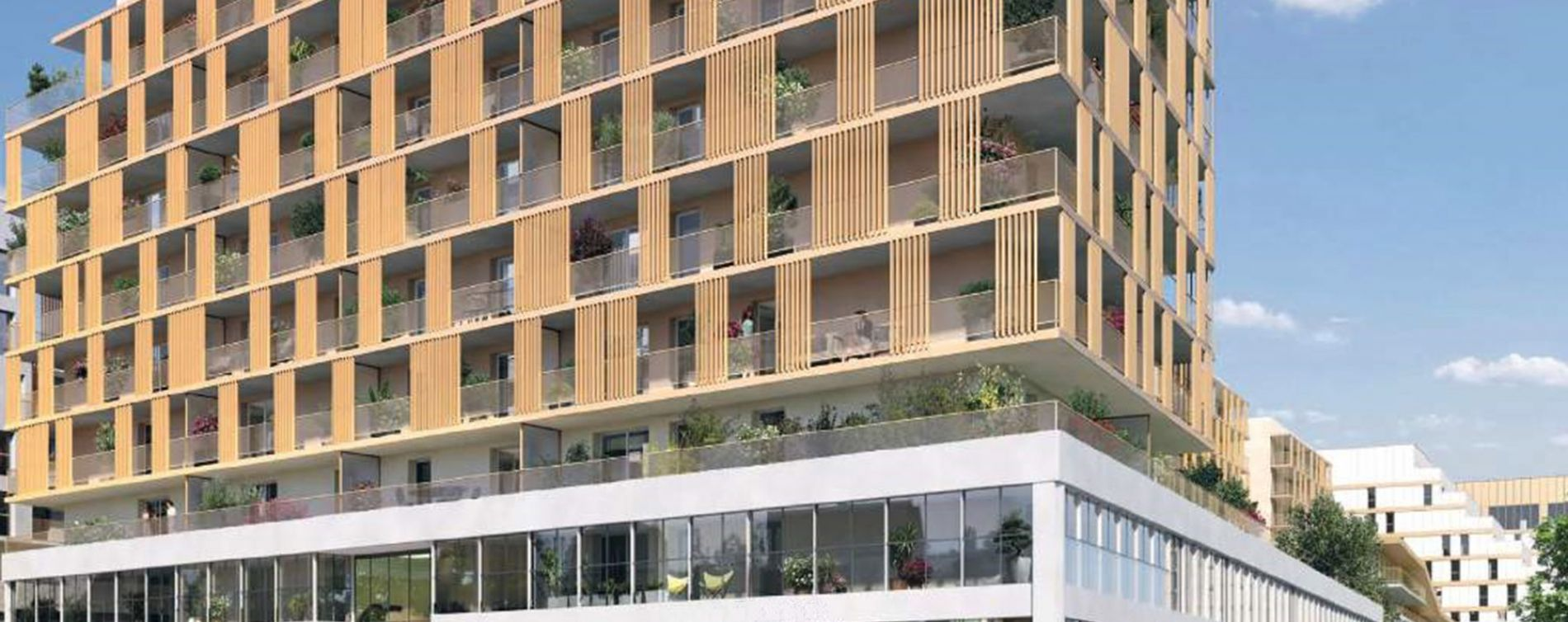 Reims : programme immobilier neuve « Rives de Vesles » en Loi Pinel