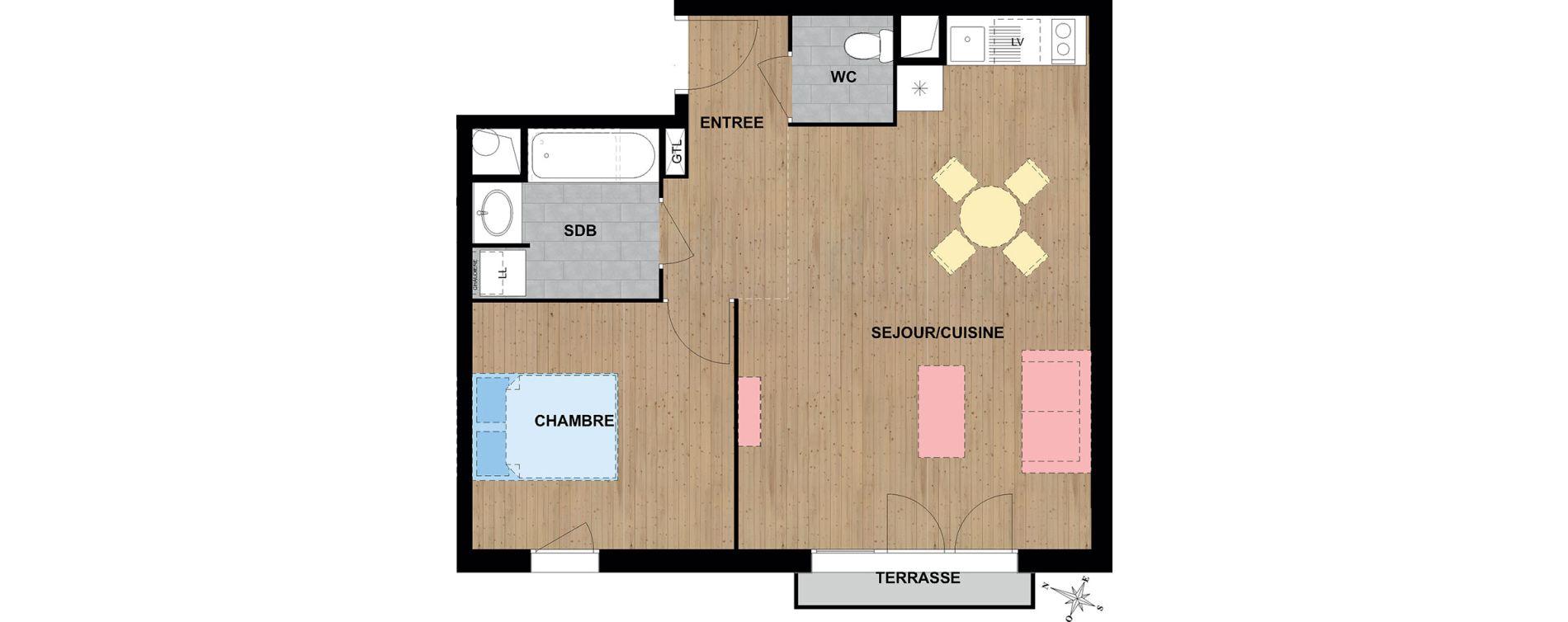 Appartement T2 de 50,24 m2 à Reims Cernay - epinettes - jamin - jaurès