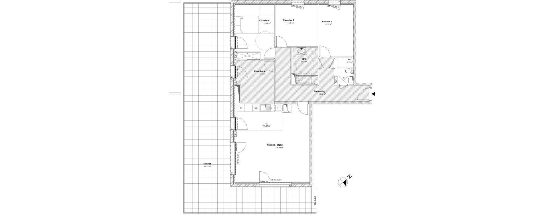 Appartement T5 de 106,84 m2 à Laxou Centre