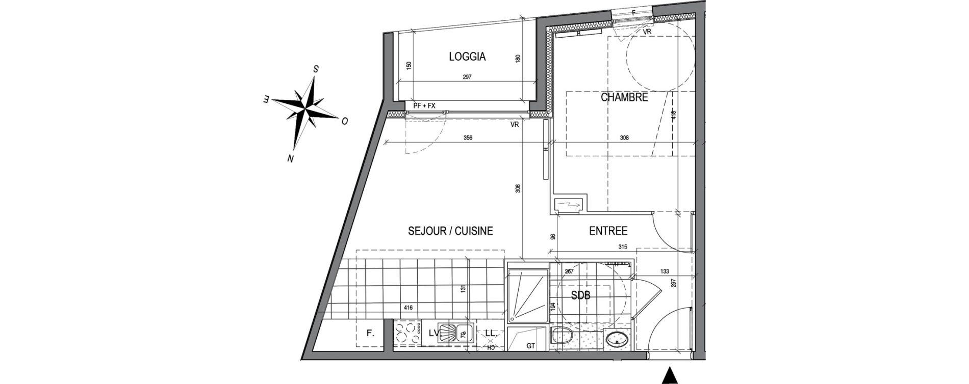 Appartement T2 de 42,41 m2 à Maxéville Centre