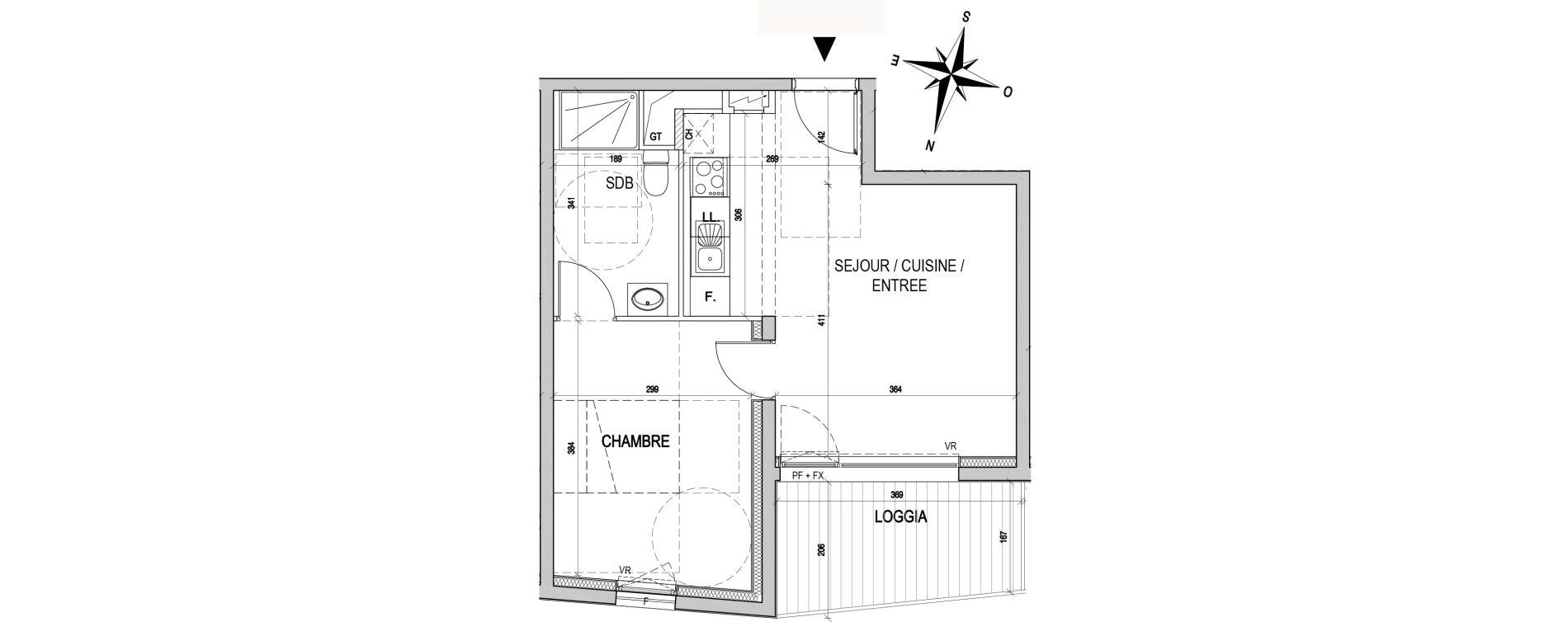 Appartement T2 de 38,83 m2 à Maxéville Centre