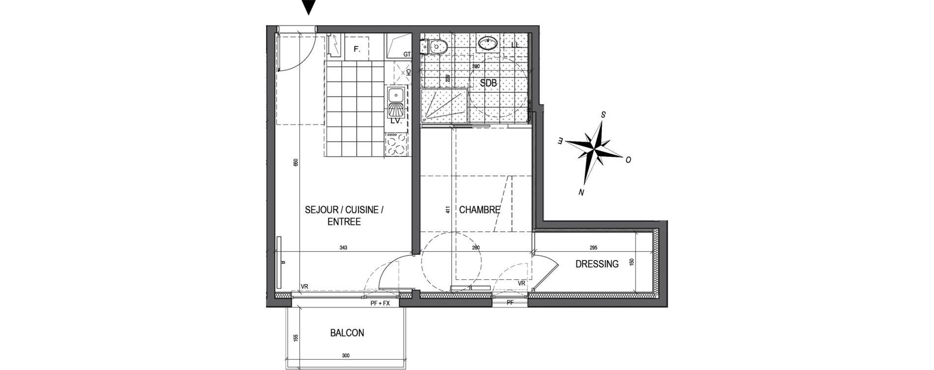 Appartement T2 de 43,63 m2 à Maxéville Centre