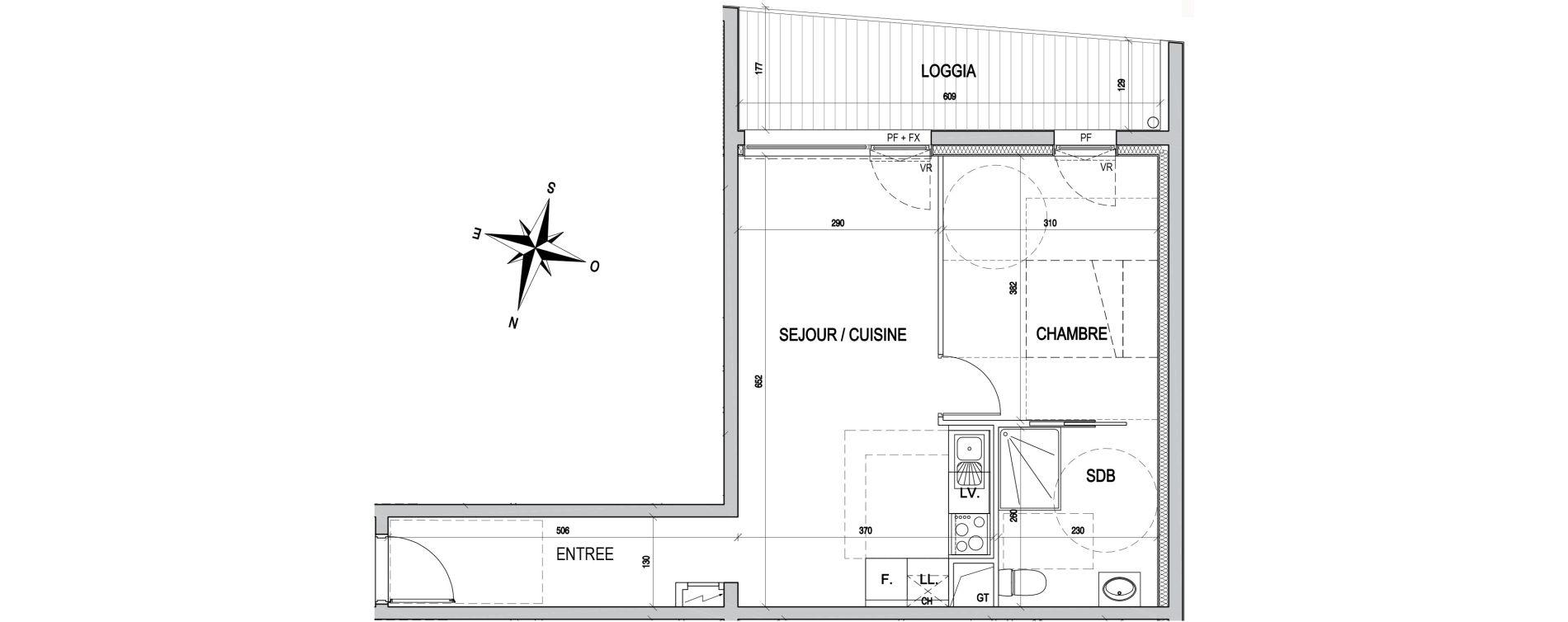 Appartement T2 de 44,60 m2 à Maxéville Centre