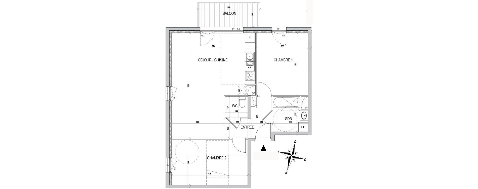 Appartement T3 de 66,78 m2 à Maxéville Centre