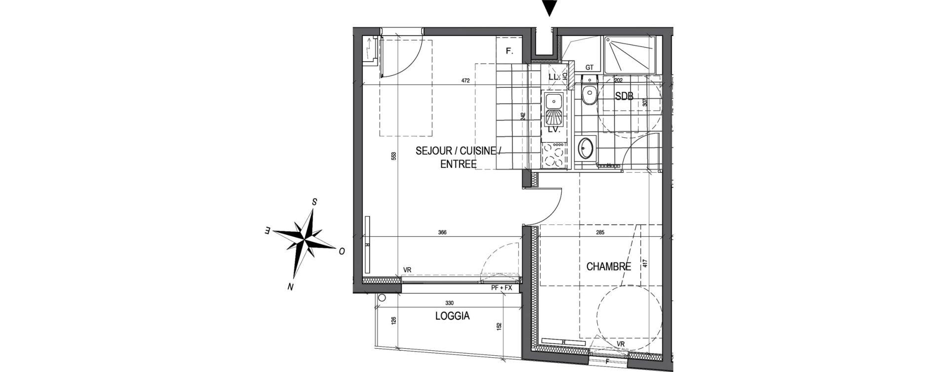 Appartement T2 de 39,86 m2 à Maxéville Centre