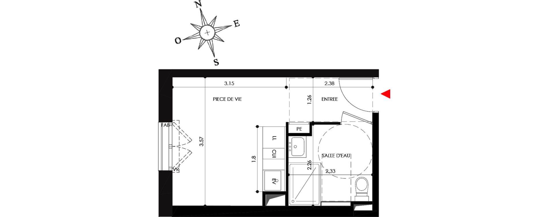 Appartement T1 de 19,00 m2 à Nancy Grand coeur