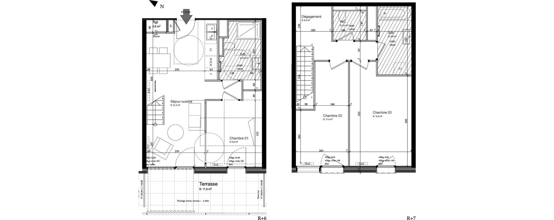Duplex T4 de 79,90 m2 à Nancy Grand coeur