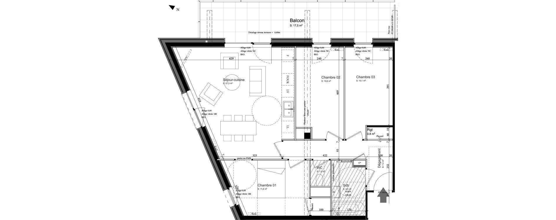 Appartement T4 de 75,00 m2 à Nancy Grand coeur