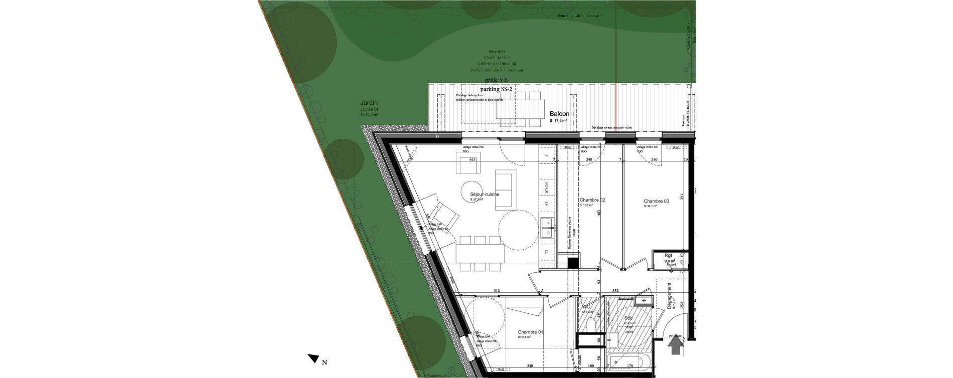 Appartement T4 de 74,20 m2 à Nancy Grand coeur