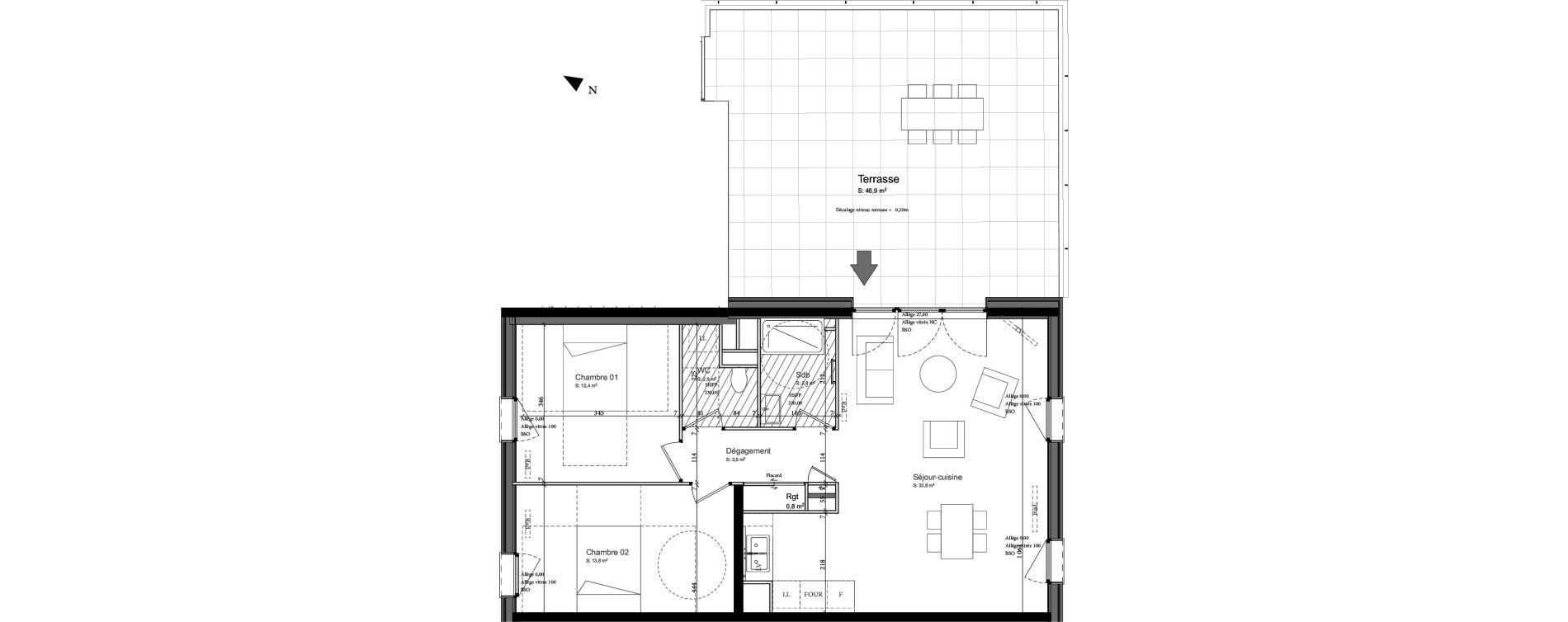 Appartement T4 de 70,40 m2 à Nancy Grand coeur