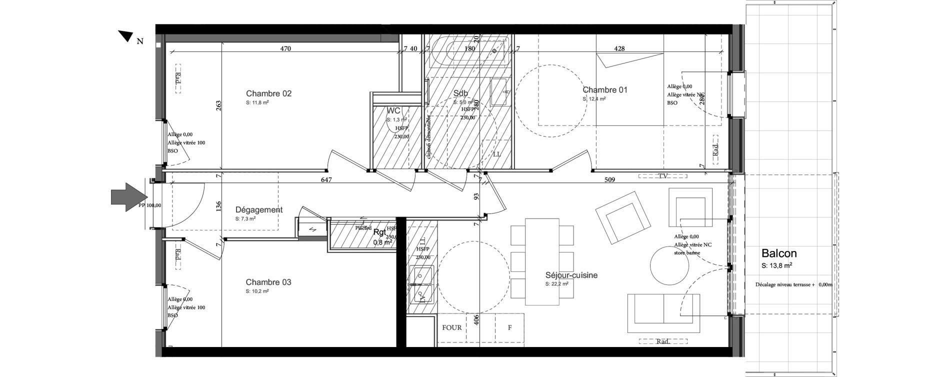 Appartement T4 de 69,50 m2 à Nancy Grand coeur