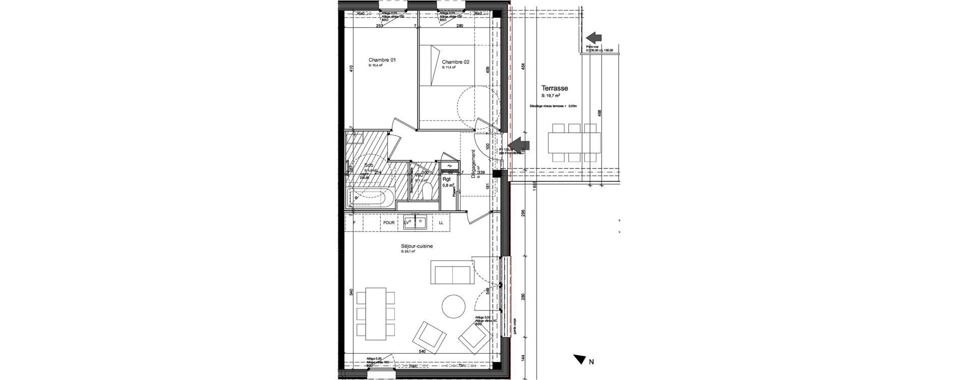 Appartement T3 de 64,90 m2 à Nancy Grand coeur