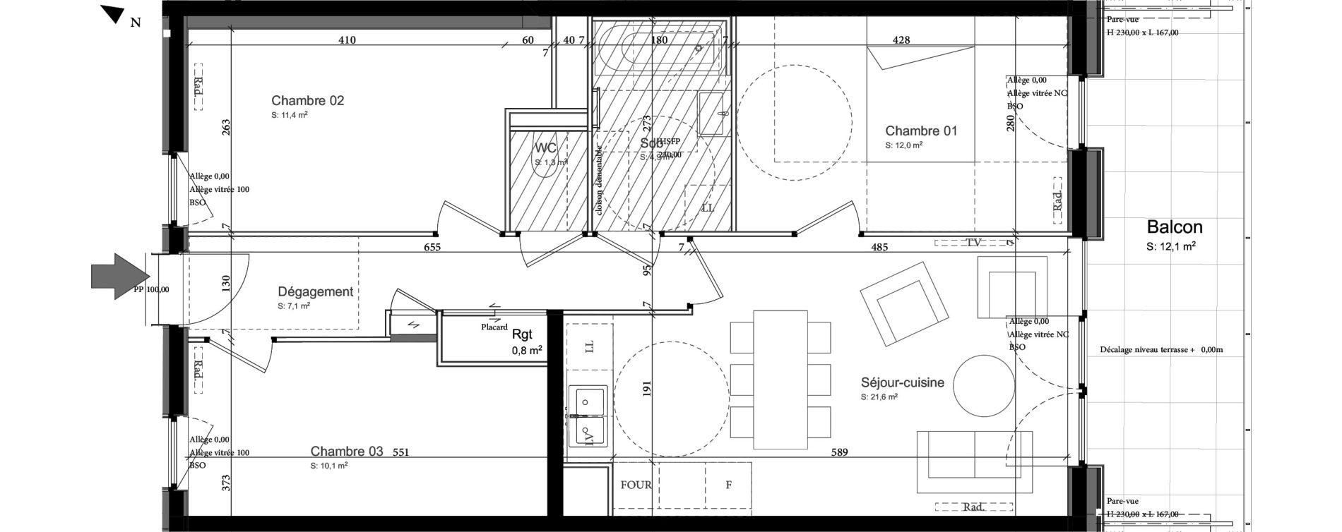 Appartement T4 de 70,20 m2 à Nancy Grand coeur