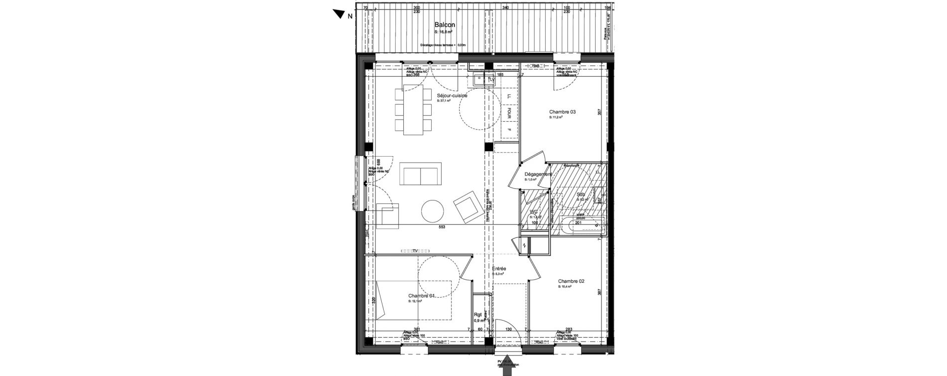 Appartement T4 de 86,20 m2 à Nancy Grand coeur