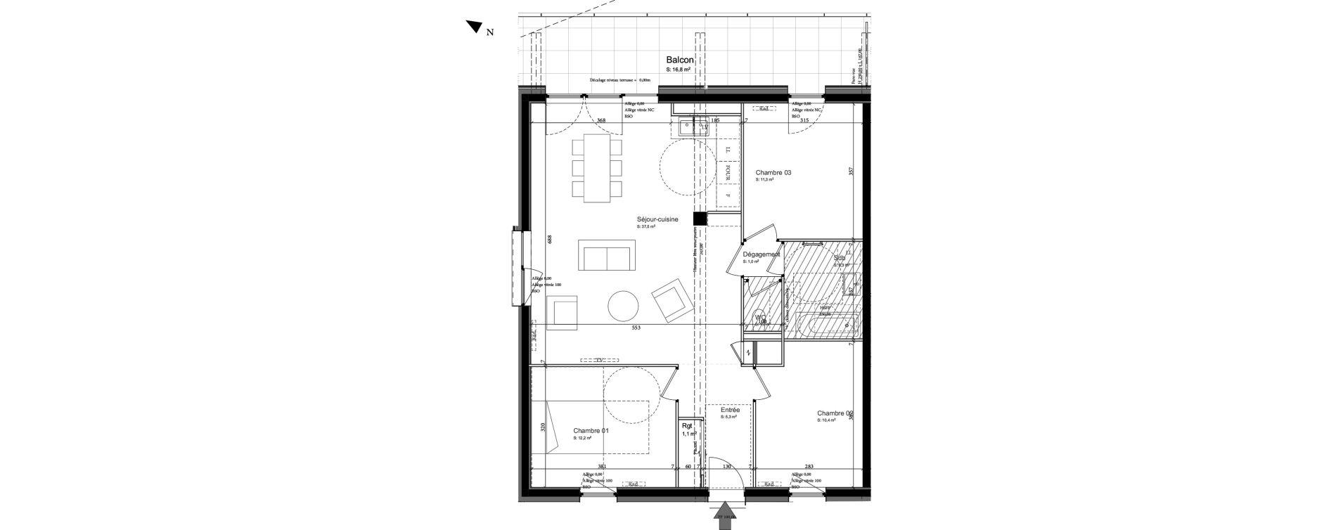 Appartement T4 de 84,40 m2 à Nancy Grand coeur