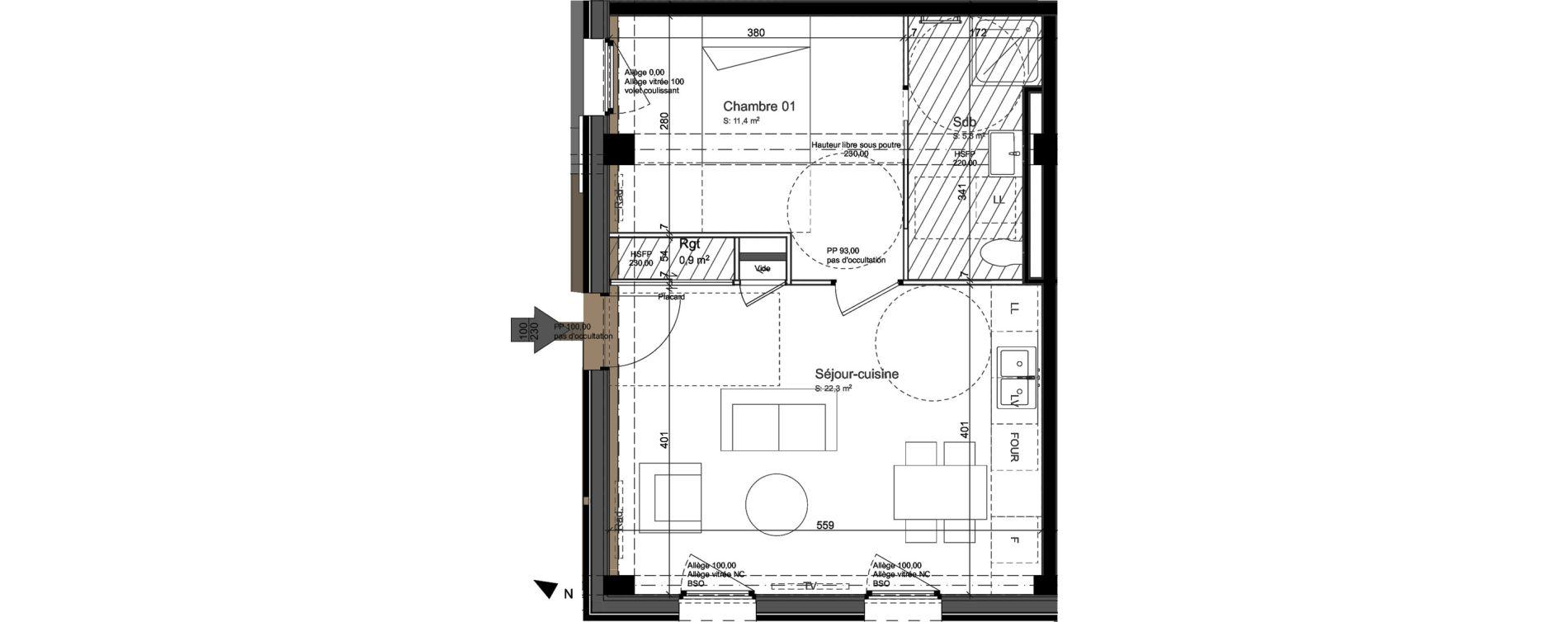 Appartement T2 de 39,90 m2 à Nancy Grand coeur
