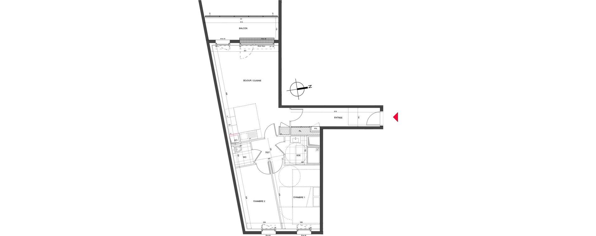 Appartement T3 de 64,33 m2 à Nancy Charles iii