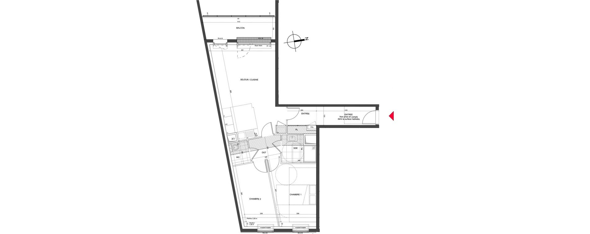 Appartement T3 de 62,70 m2 à Nancy Charles iii