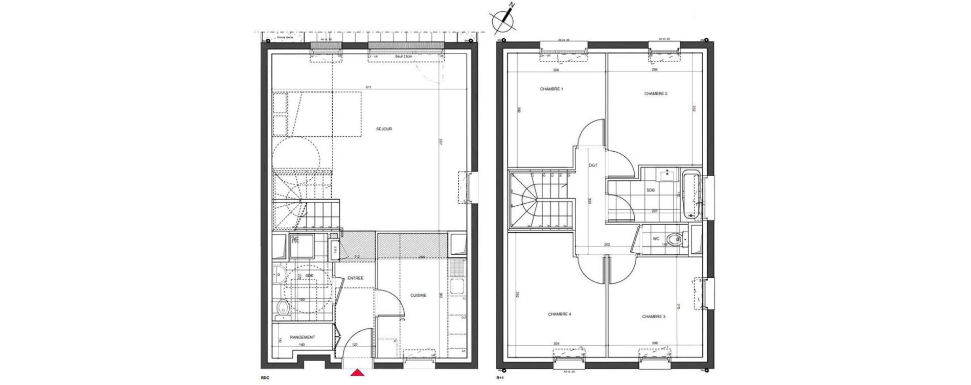 Maison T5 de 105,32 m2 à Nancy Charles iii