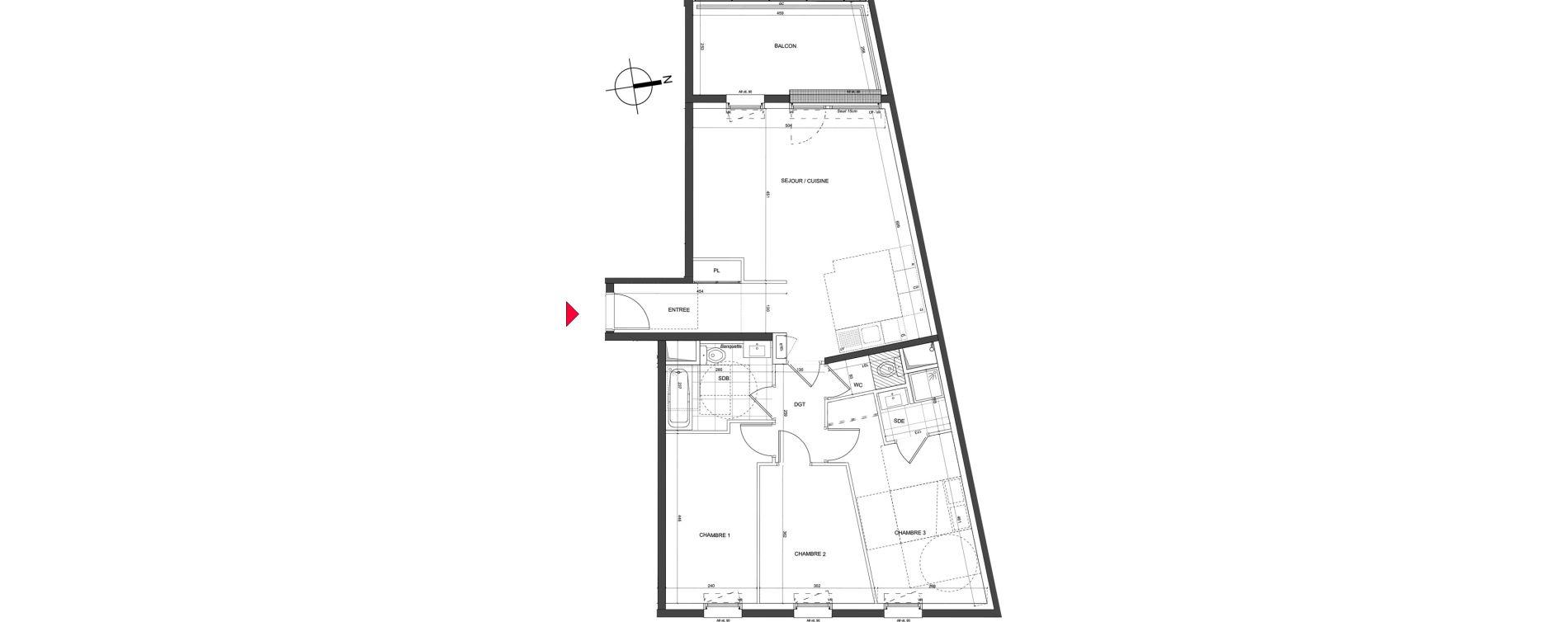 Appartement T5 de 85,82 m2 à Nancy Charles iii