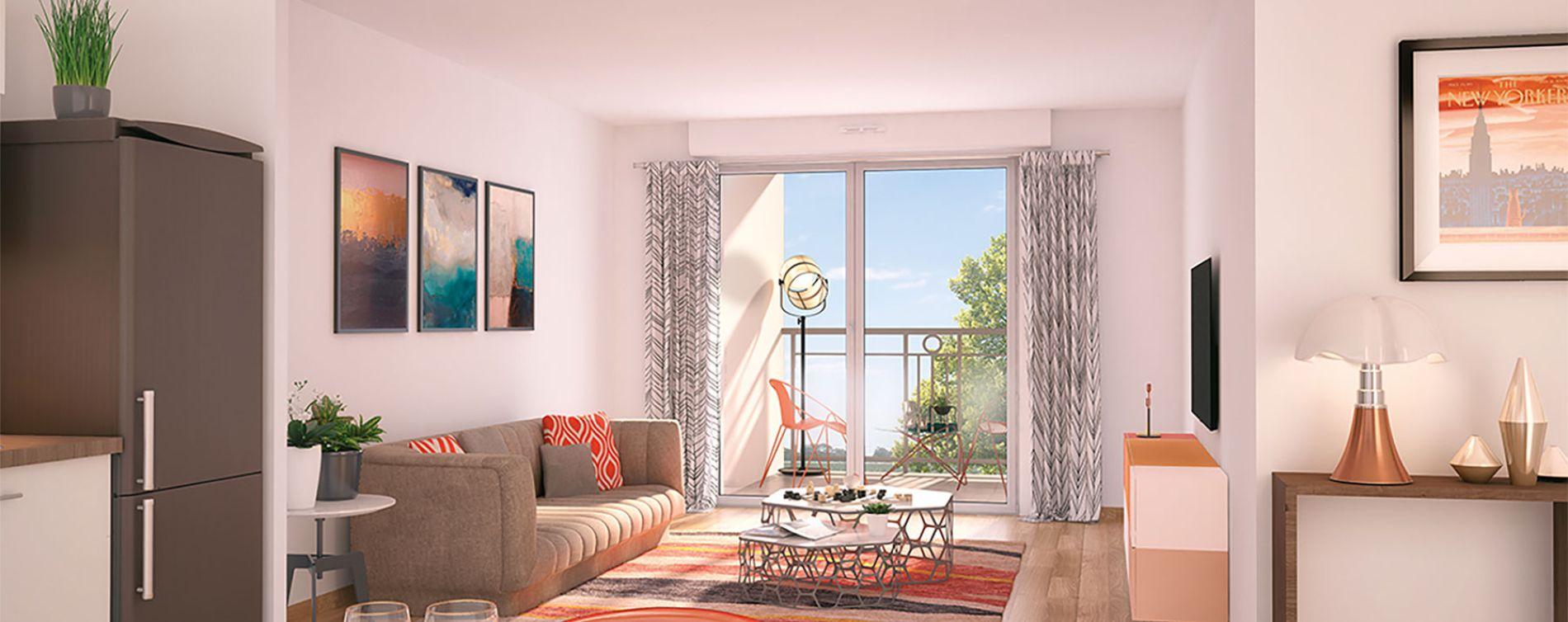 Nancy : programme immobilier neuve « Les Deux Rives 2 » en Loi Pinel