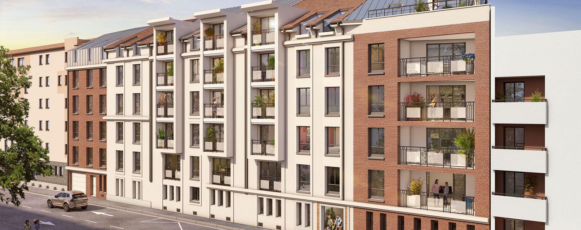 Nancy : programme immobilier neuve « Les Deux Rives » en Loi Pinel