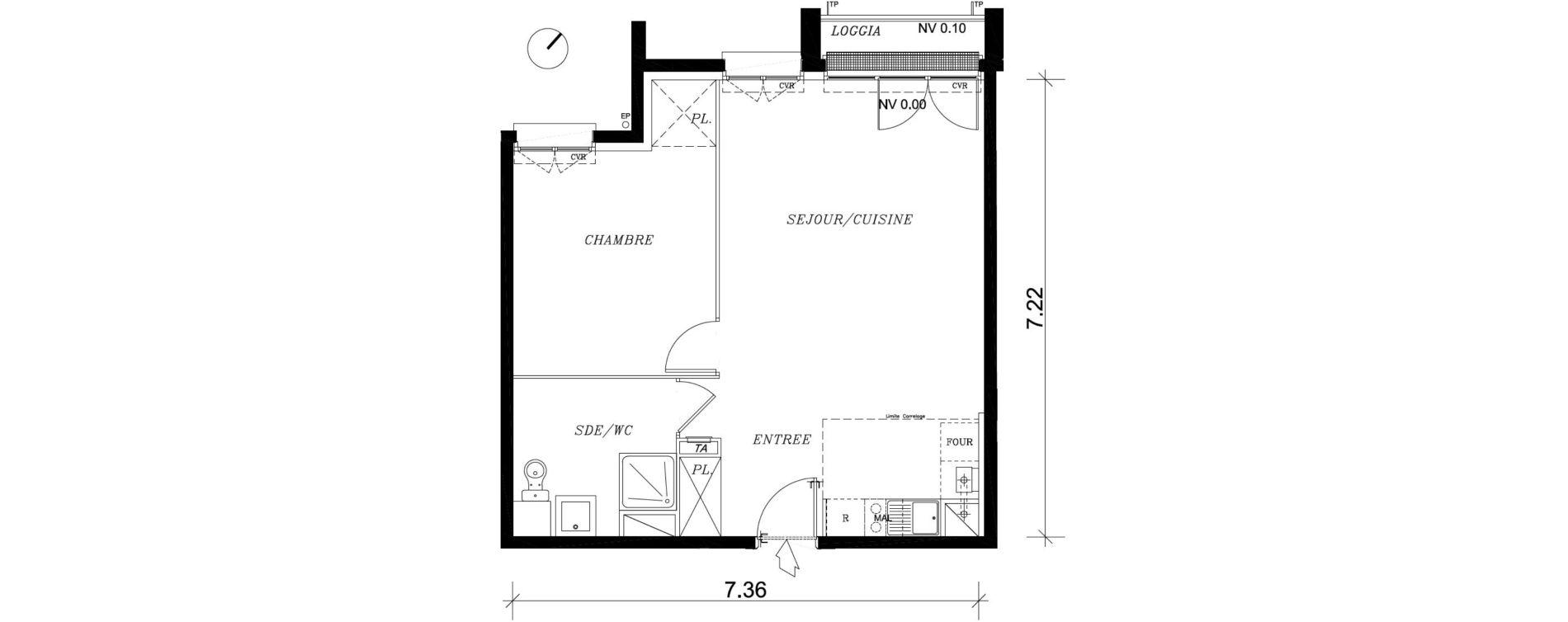 Appartement T2 de 49,63 m2 à Nancy Marcel brot