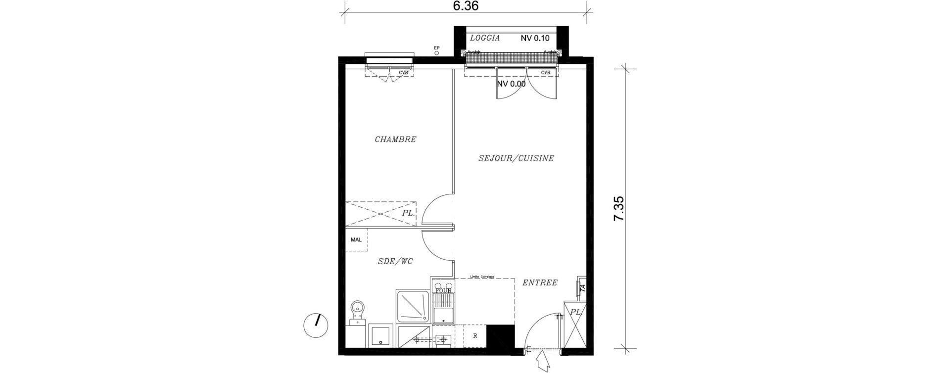 Appartement T2 de 44,97 m2 à Nancy Marcel brot