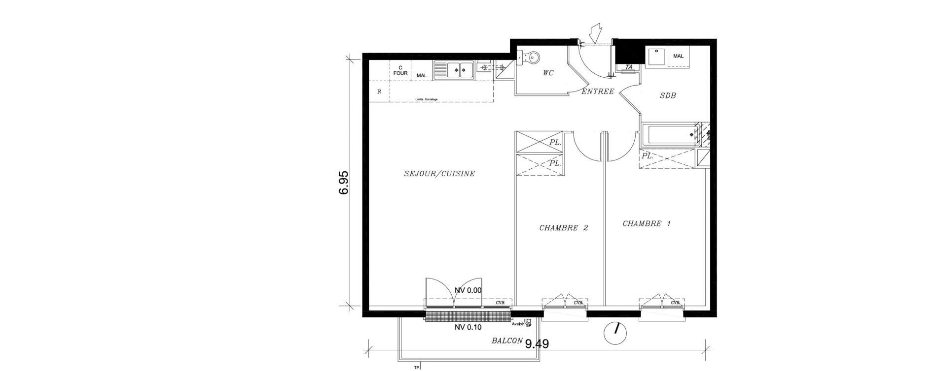 Appartement T3 de 66,14 m2 à Nancy Marcel brot
