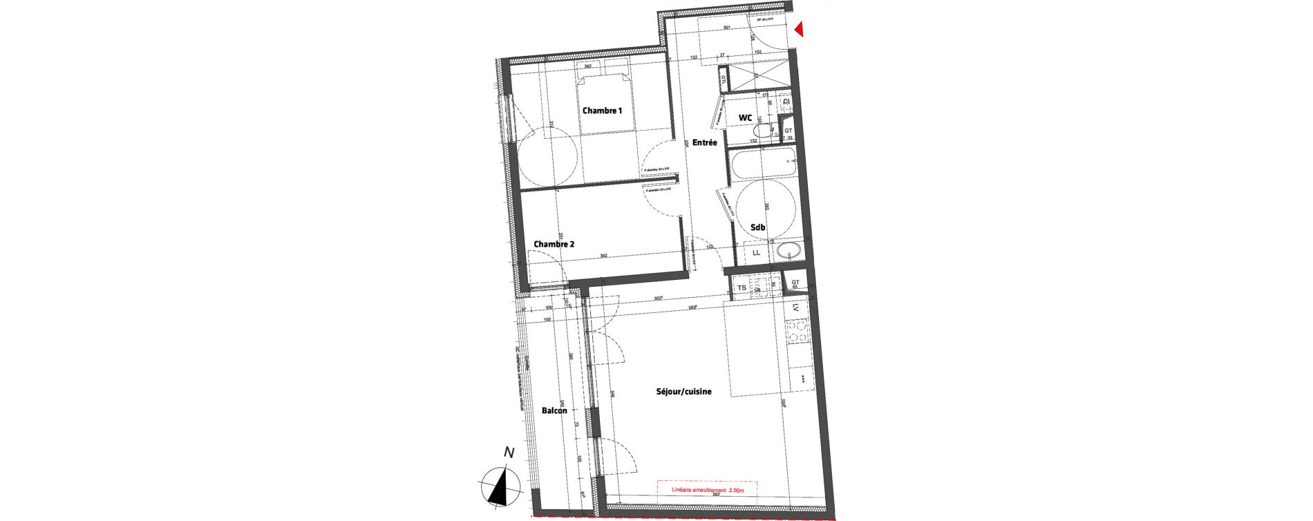 Appartement T3 de 70,40 m2 à Nancy Scarpone