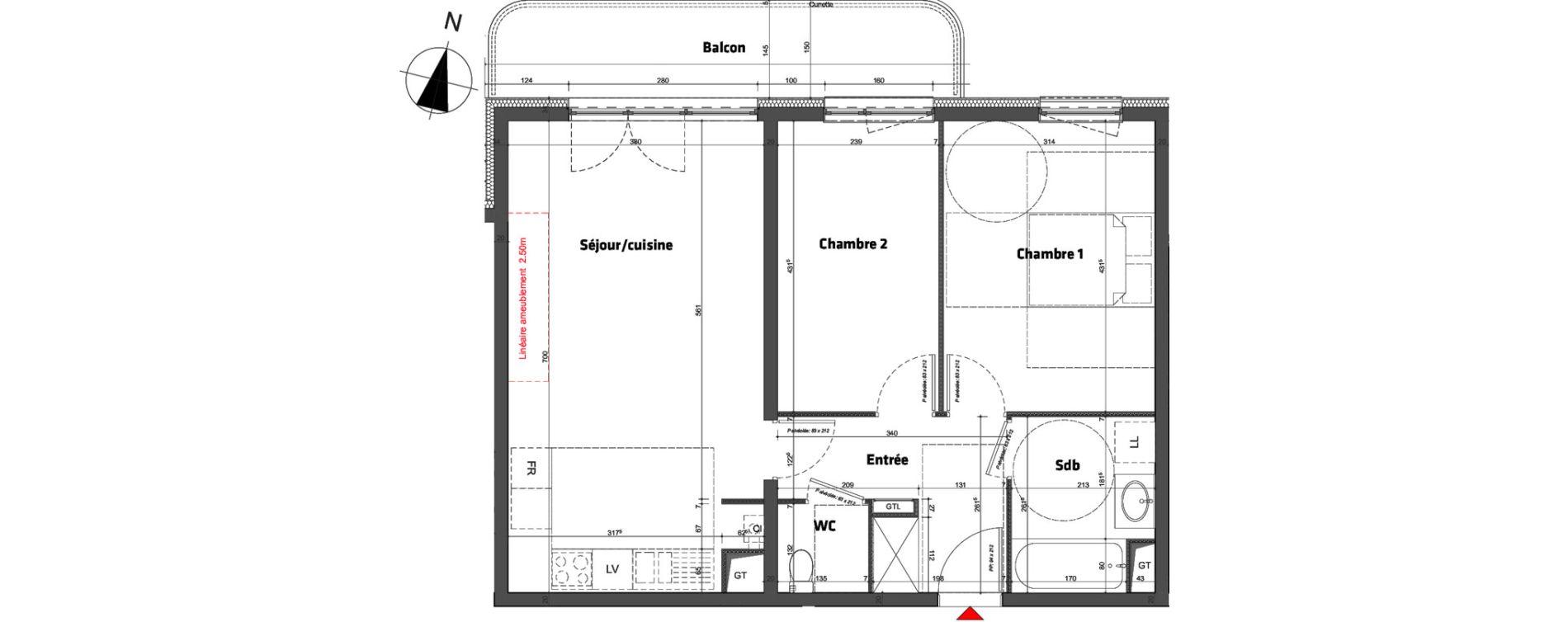 Appartement T3 de 63,80 m2 à Nancy Scarpone