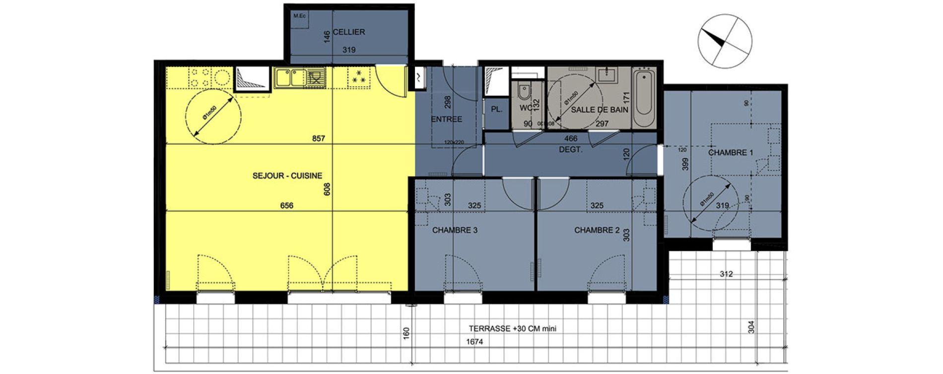 Appartement T4 de 94,25 m2 à Nancy Grand coeur