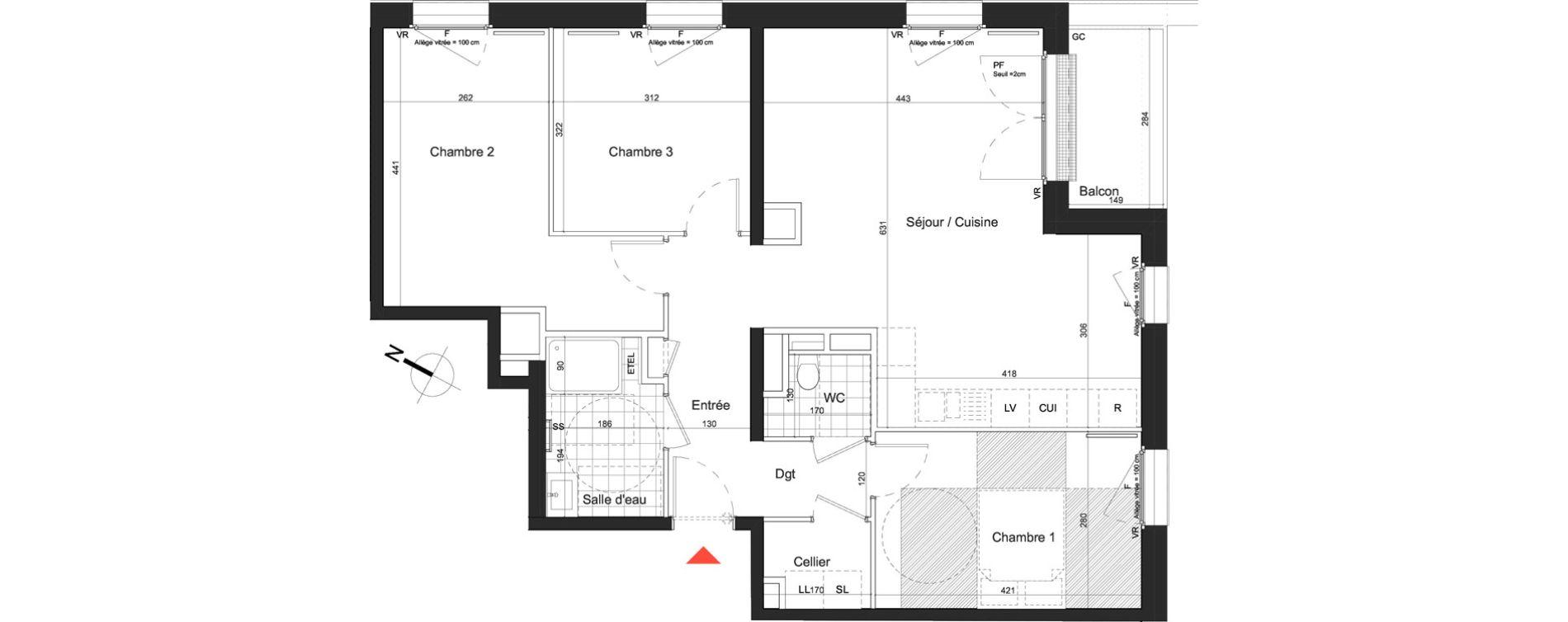 Appartement T4 de 83,88 m2 à Nancy Grand coeur