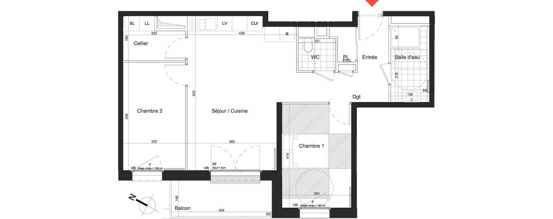 Appartement T3 de 66,64 m2 à Nancy Grand coeur