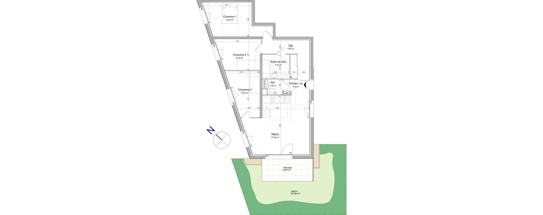 Appartement T4 de 79,19 m2 à Vandœuvre-Lès-Nancy Biancamaria