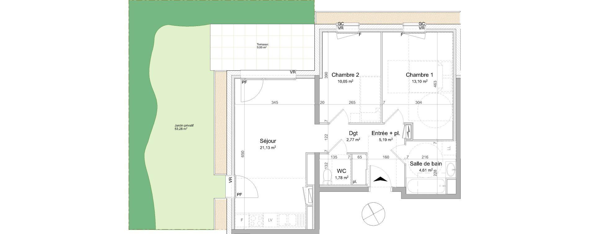 Appartement T3 de 58,63 m2 à Vandœuvre-Lès-Nancy Biancamaria