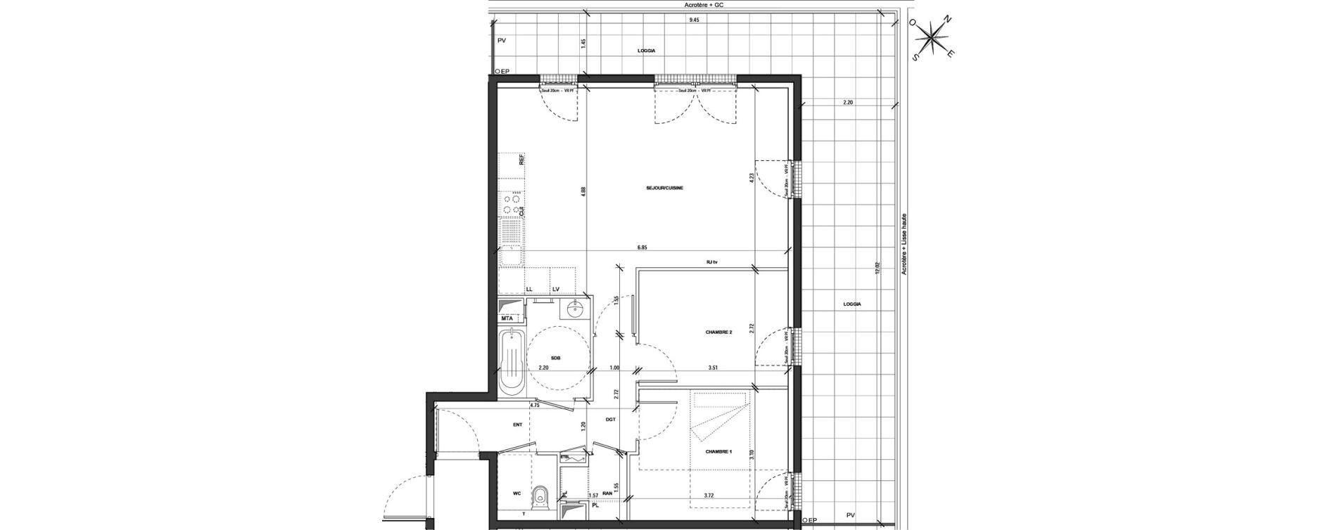Appartement T3 de 68,79 m2 à Montigny-Lès-Metz Centre