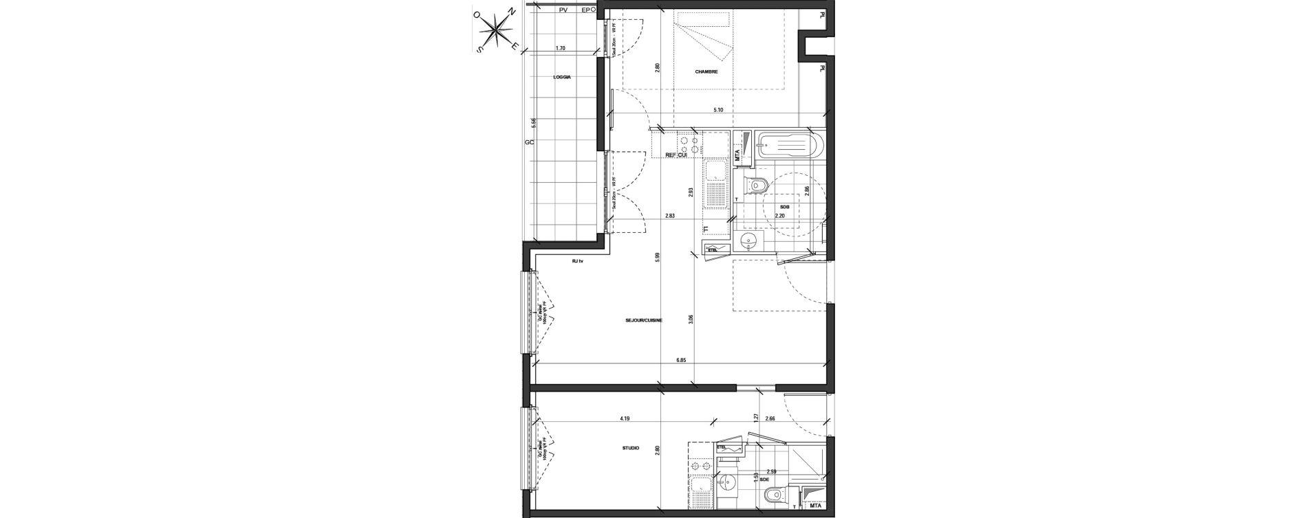 Appartement T3 de 66,88 m2 à Montigny-Lès-Metz Centre