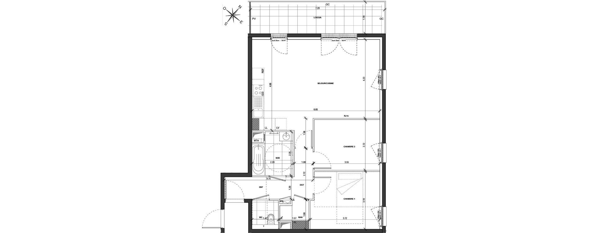 Appartement T3 de 68,81 m2 à Montigny-Lès-Metz Centre