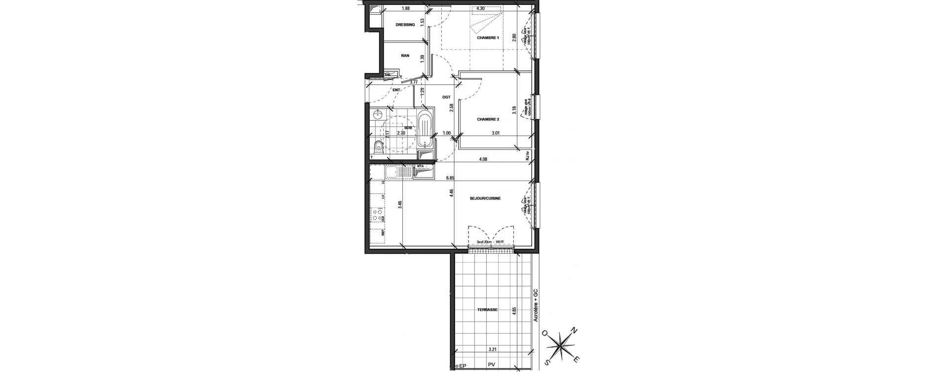 Appartement T3 de 64,68 m2 à Montigny-Lès-Metz Centre