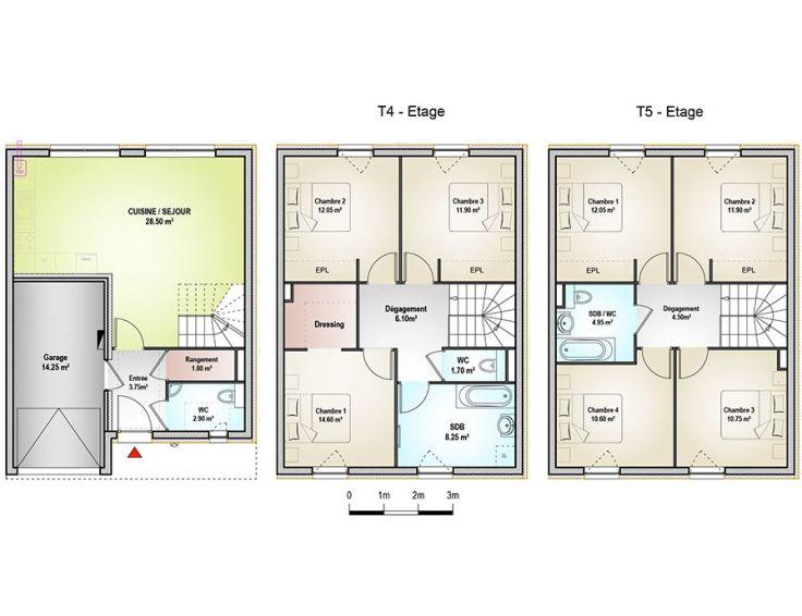 maison t5 les maisons de cassiop e woippy n870. Black Bedroom Furniture Sets. Home Design Ideas