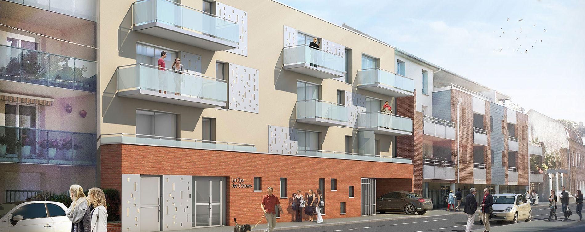 Armentières : programme immobilier neuve « Carré des Octaves » en Loi Pinel