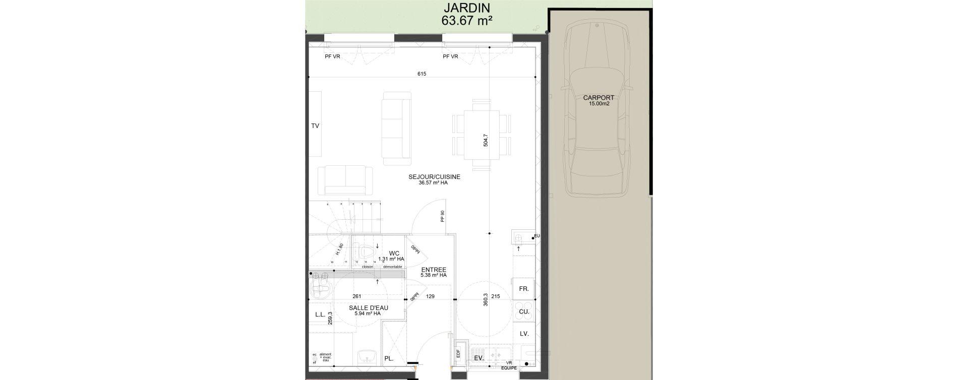 Maison T5 de 97,17 m2 à Douai Frais marais